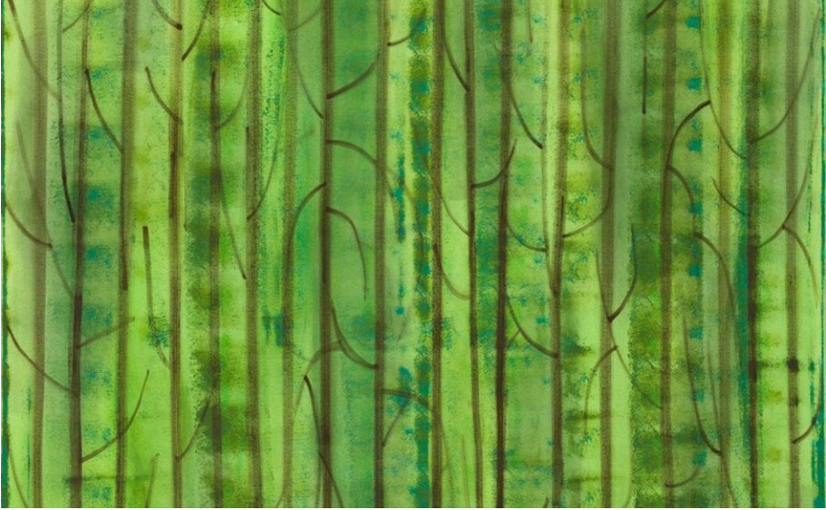 Benjamin Butler Detail of Untitled Green Forest, 2014  Öl, Acryl auf Leinwand  150 x 120 cm