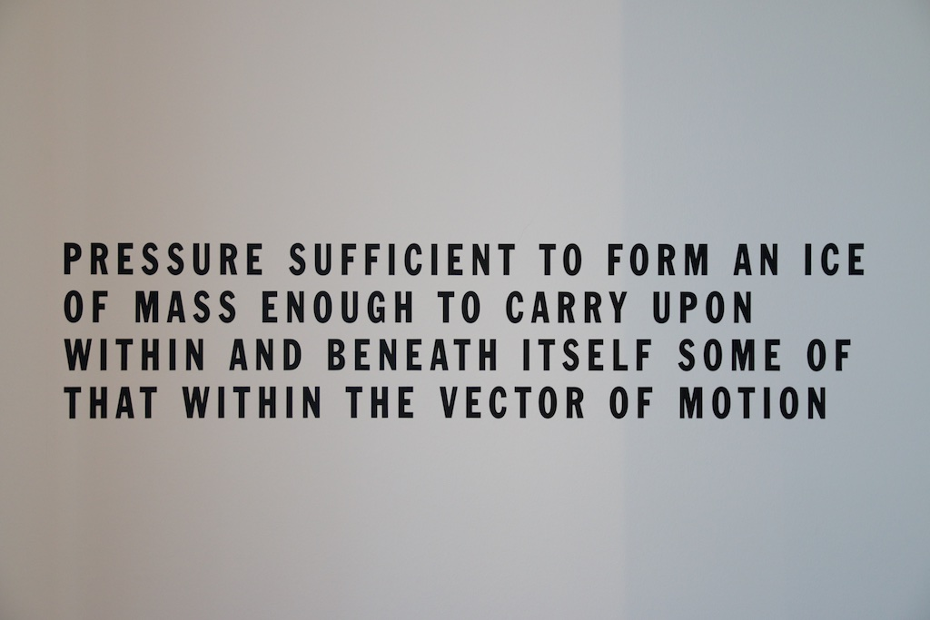 Lawrence Weiner Cat. # 490, 1981 Language and the material referred to