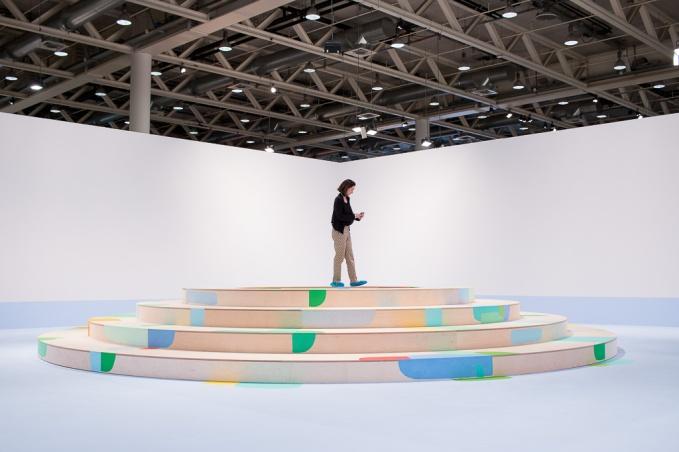 Federico Herrero, Landscape with circles, art basel 2015, photo: Kristina Kulakova