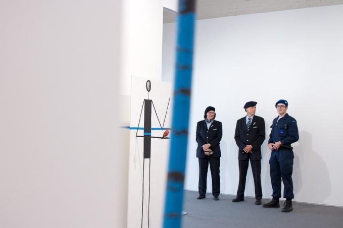 Edward Krasinski at Stramach Gallery (Krakow) , art Basel 2015, Photo: Kristina Kulakova