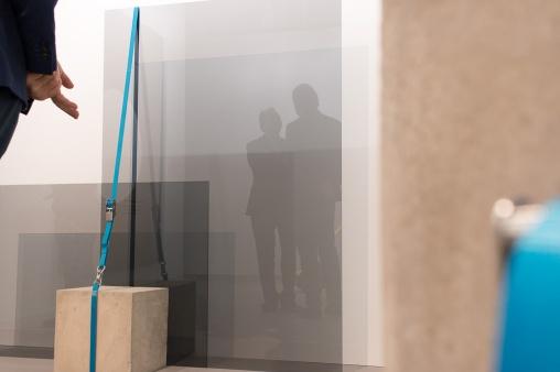 Reflection on the work by Jose Davila , art basel 2015, photo: Kristina Kulakova