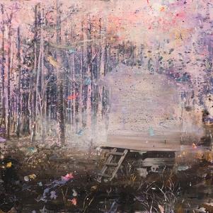 Harald Hermann, ZEITMASCHINE, acrylic on canvas, 61x60 cm, 2014, Anna Jill Lüpertz Gallery, photocredit: courtesy of the artist