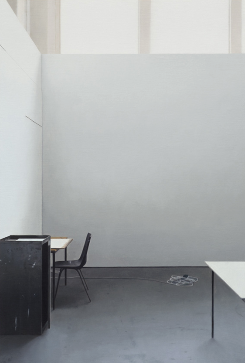 Paul Winstanley, Art School 33, oil on wood, 2014, Galerie Andreas Binder, photocredit: courtesy of the gallery