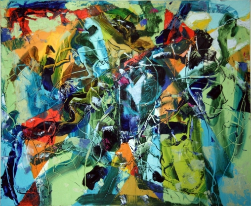Romul Nutiu, Transcending, 2011, oil on canvas, 418 Contemporary Art Gallery