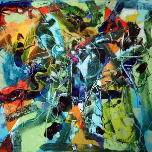 Romul Nutiu, Transcending, 2011, oil on canvas, 418 Contemporary Art Gallery
