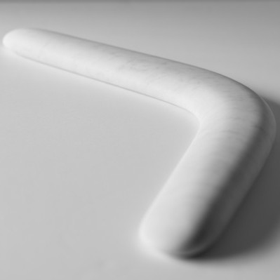 Stefan Sava, Boomerang, marble object, Ivan, 2013, photocredit: courtesy of the artist