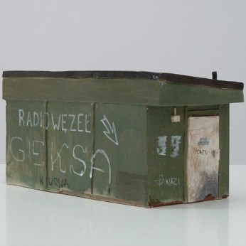 Tomasz Kulka, Untitled (Radio-relay center), Sculpture, 16x33x14 cm, 2011, Propaganda, photocredit: coutery of the gallery