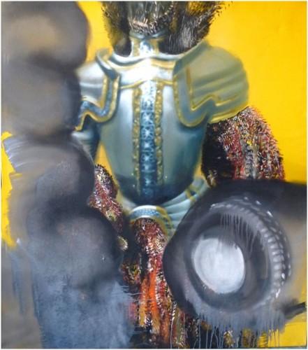 Ursula Buchart, Rittersmann kein Knapp, painting, 160x140 cm, 2013, Gallery Ernst Hilger, photocredit: courtesy of the artist