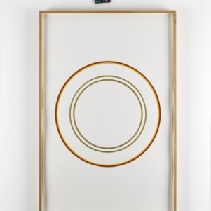 Winston Roeth, Edinburgh Circles, Painting, 102 x 67 cm, Galerie Christian Lethert, photocredit: courtesy of Simon Vogel