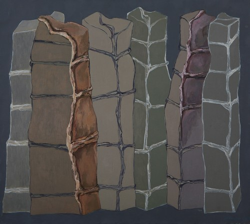 Marilena Preda Sânc, Modules, Painting, 80 x 90 cm, 1982, EASTWARDS PROSPECTUS, photocredit: courtesy of the artist