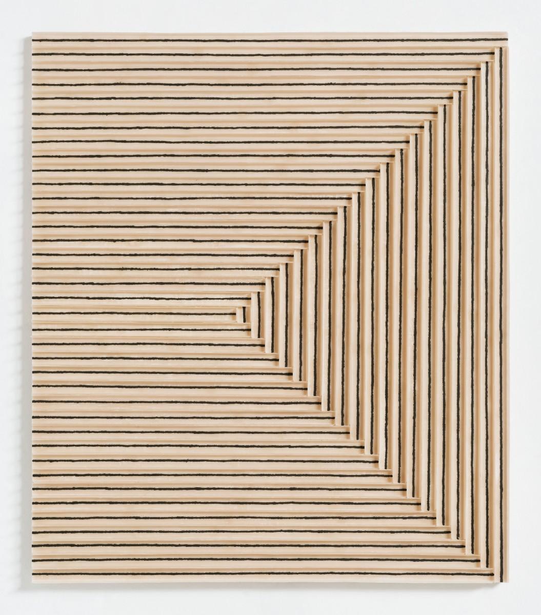 """TchunMo Nam, """"Beam_stroke"""", mixed media on canvas, 2015, courtesy: AANDO FINE ART"""