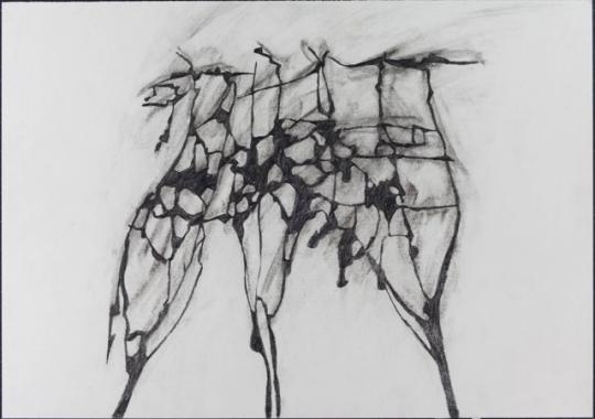 Ivan Grubanov, Study for a Memorial, 2009, Bleistift auf Papier, 29,5cm x 42cm, courtesy Loock Galerie, Berlin