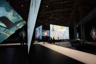 """""""Golden age of Russian avant-garde"""" exhibition by Peter Greenaway and Saskia Boddeke, 2014"""