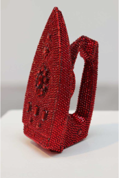 Zara Alexandrova, For the Love of Housewife. 2014, iron covered with red glass stones, 25x12x15cm. Photo: Zoran Georgiev