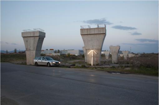 Kamen Stoyanov, Future Idea. Light Installation/Happening. Photo: Kamen Stoyanov