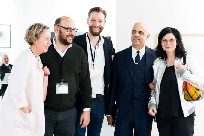 mumok director Karola Kraus, Manfred Peichl, Cornelis van Almsick, Gerald Matt, Eva Schlegel