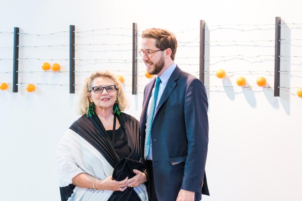Waltraud Mauroner and Sebastian Dachtler (viennacontemporary), photo: Kristina Kulakova, viennacontemporary
