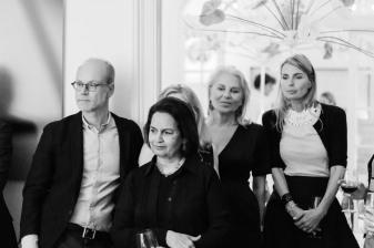 Frederic de Goldschmidt, Lekha Poddar, Eva Maria O'Neill with daughter Natascha Gräfin von Abensperg und Traun
