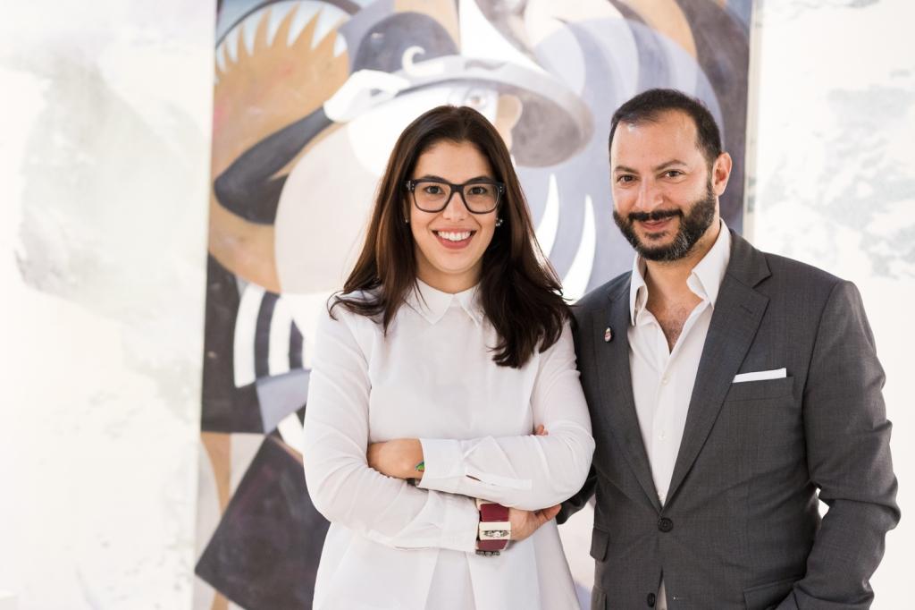 Nadine Knotzer and Kourosh Nouri, photo: Kristina Kulakova, viennacontemporary