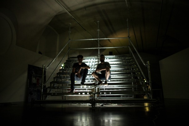 Isjtar & Ofer with their installation at frei-raum, Vienna, (c) ATK!