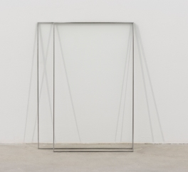 Marcius Galan, Translucent, 2015, paint on the wall, wax on the floor and iron, 79 x 93 x 18 cm, (c) the artist, courtesy Galerija Gregor Podnar