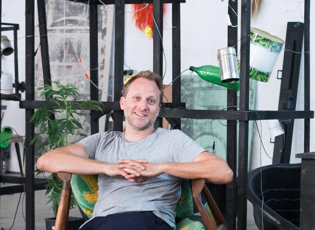 Albert Mayr in his Vienna studio, (c) Kristina Kulakova