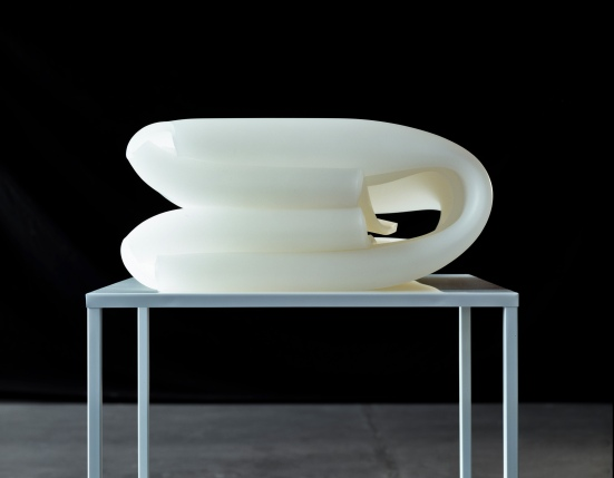 Olaf Holzapfel, White Winding Space Two, 2009, courtesy of Daniel Marzona,