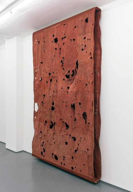 Simon Callery, Flat Painting Bodfari 14/15 Ferrous, 2014-15, courtesy of the artists and FOLD gallery