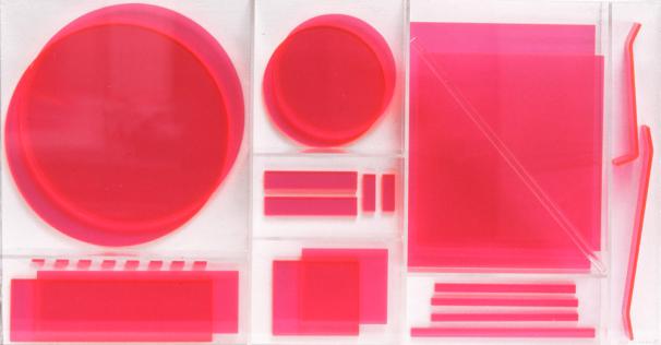 Renate Bertlman, Rollstuhlbaukasten (rot) [wheelchair building kit, red], 1975, (c) the artist, courtesy of Galerie Silvia Steinek