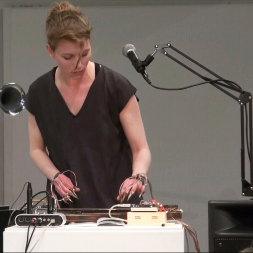 Ulla Rauter performing at Museum Bruneck, 2016, (c) the artist