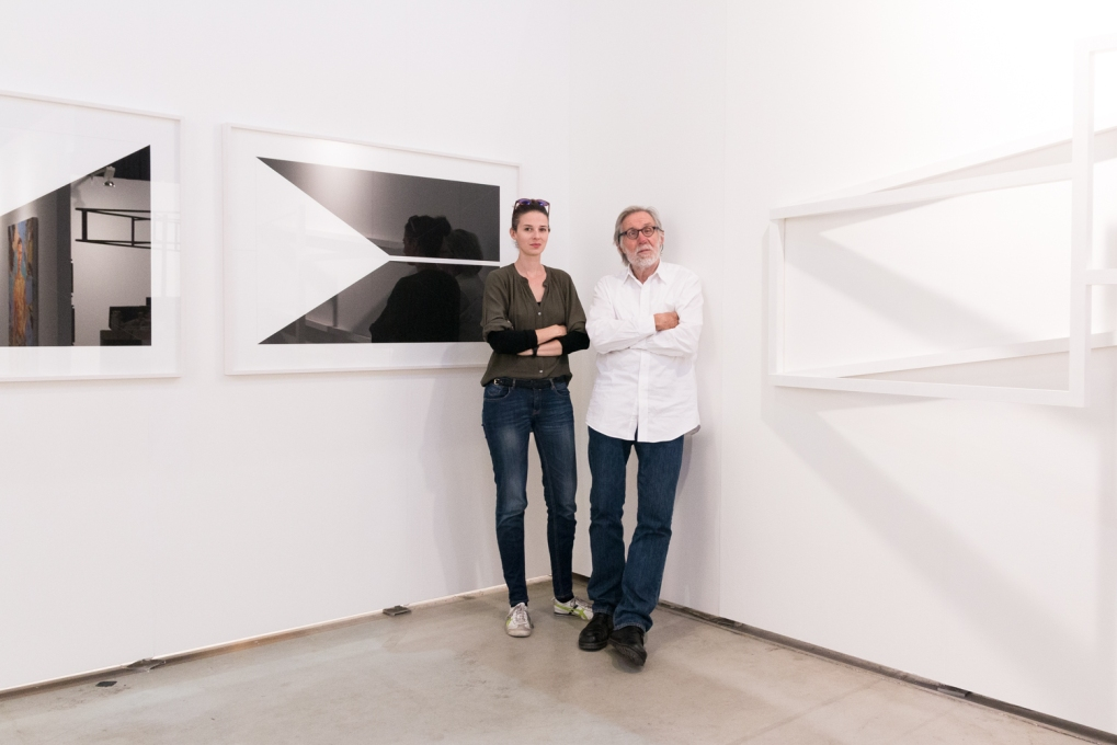 Peter Lindner with artist Anna-Maria Bogner
