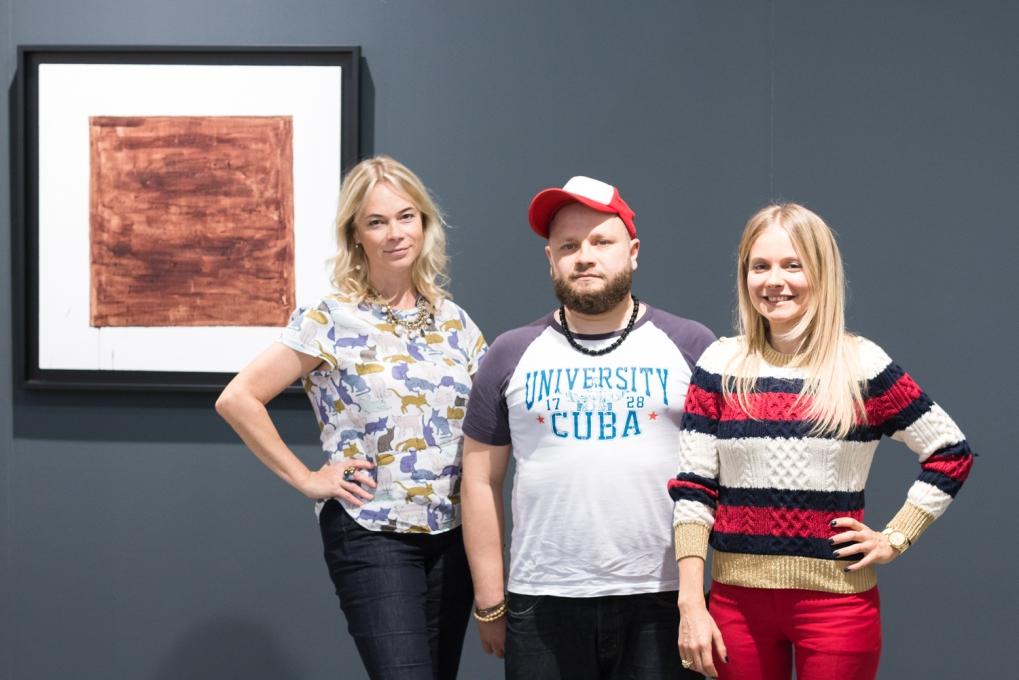 Nadia Stepanova, artist Alexey Mandych and Elvira Tarnogradskaya