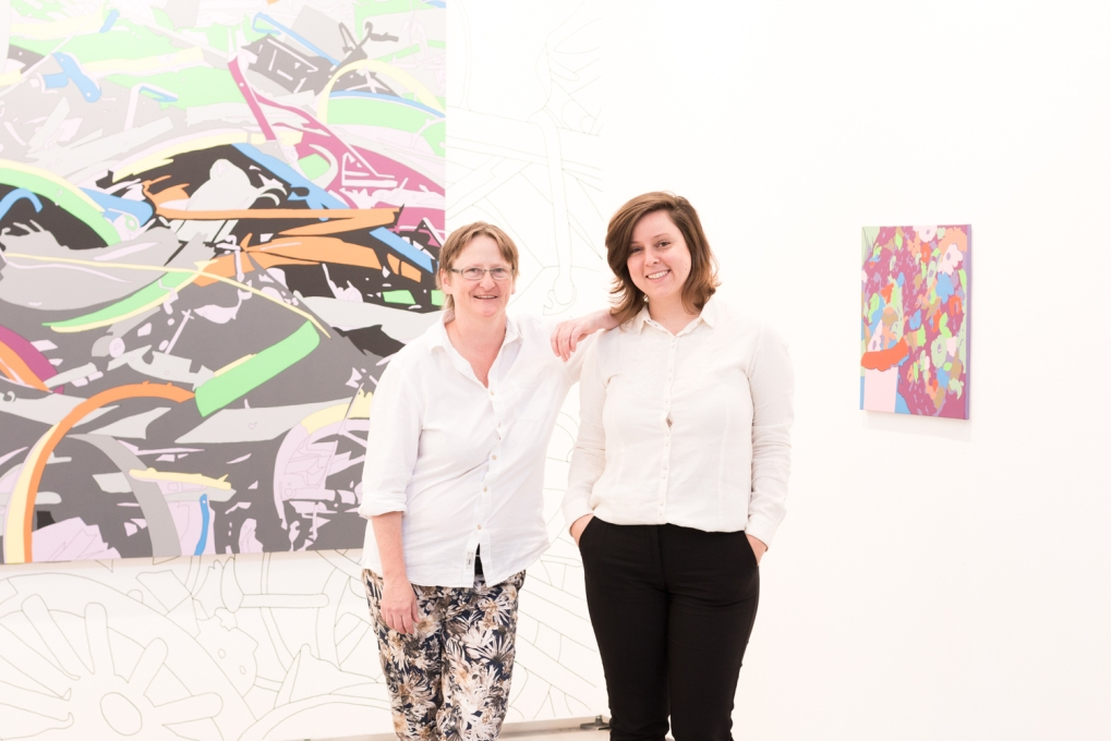 Artist Francis Lisa Ruyter and Andrea Fiore