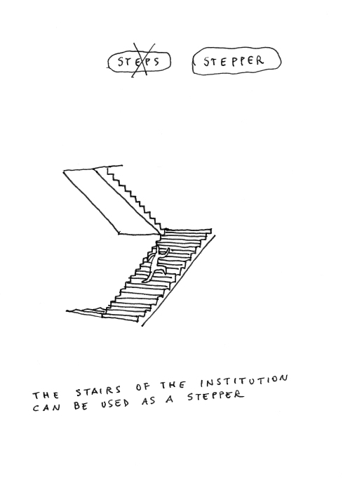 "Aldo Giannotti, The Museums as a Gym, ""Stepper"", courtesy of the artist and projektraum viktor bucher"