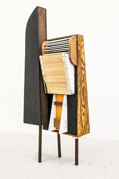 Sebastian Koch, Untitled (e.f.r. Sc II), 2015, mixed media 91 x 37 x 18 cm, courtesy of Krobath