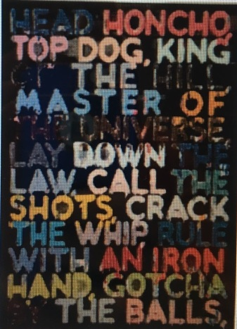Work by Mel Bochner from Martinez collection