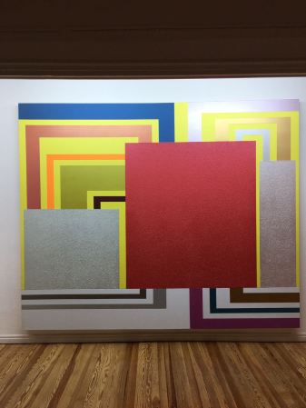 Work by Peter Halley from Martinez collection