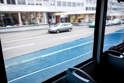"documenta 14, Pavel Braila: ""The Ship"", a public bus (16) of the public transport KVG in Kassel, Copyright: © documenta 14/Fred Dott"