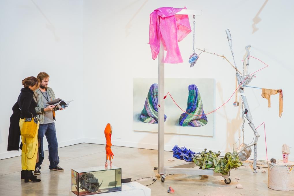 Galerie Lisa Kandlhofer's booth, photo (c) viennacontemporary / Alexander Murashkin