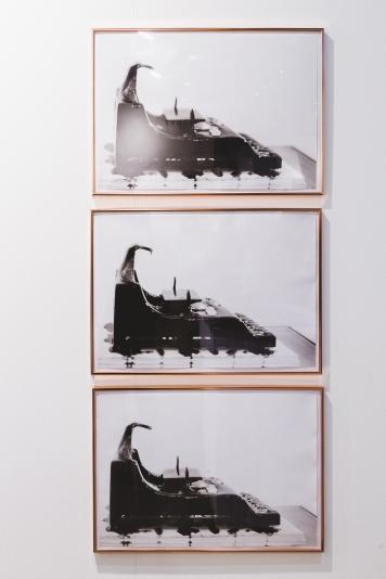 Claudia Marzendorfer, Music Typewriter, at Gallery Konzett, photo (c) viennacontemporary / Alexander Murashkin