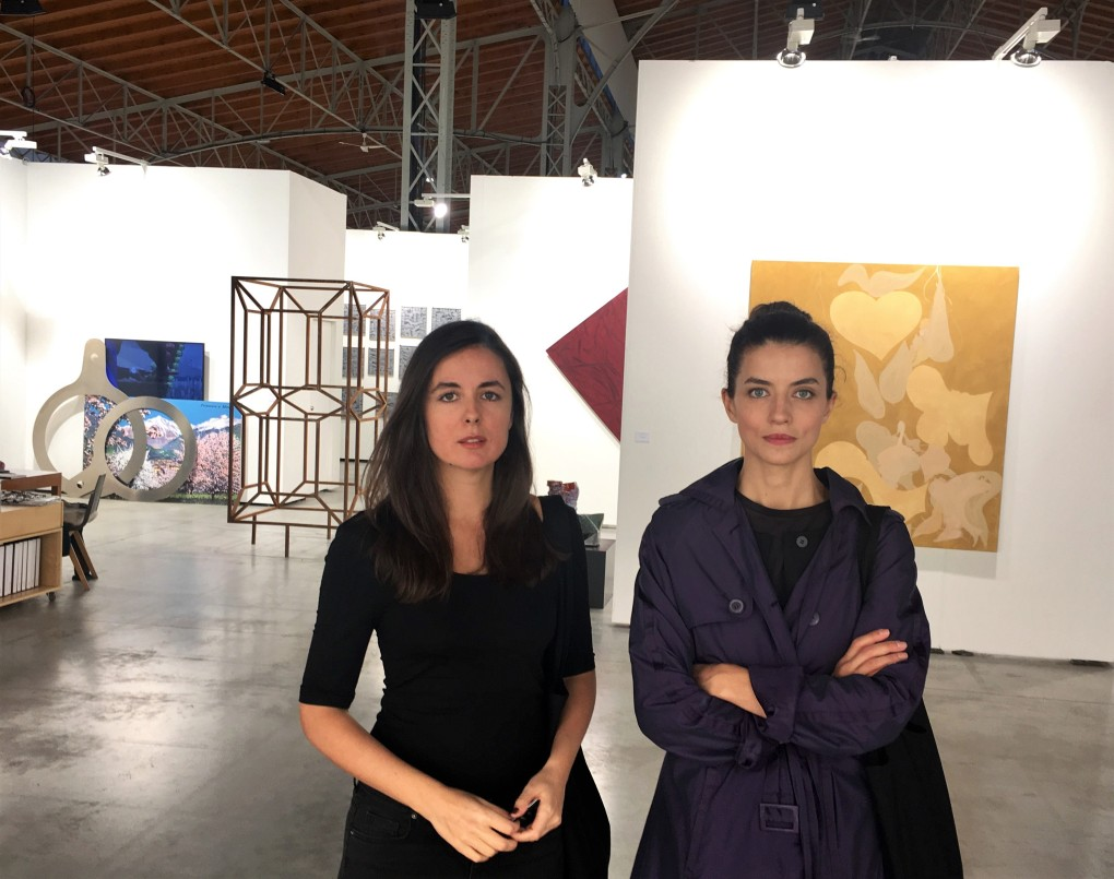 BLOCKFREI's Jelena Kaludjerović and Nevena Janković at viennacontemporary 2017, photo by Dejan Kaludjerović