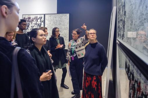 Curator's Agenda visiting Galerie Clemens Gunzer's booth, photo (c) viennacontemporary/ Henk Jaan Kamerbeek
