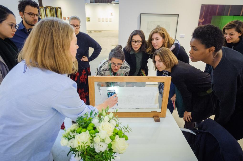 Curator's Agenda tour at Cecilia Hillström Gallery's booth, photo (c) viennacontemporary/ Henk Jan Kamerbeek