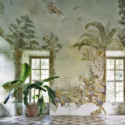 Margherita Spiluttini Gartenpavillon Stift Melk, Fresko von Johann Wenzel Bergl, 2008