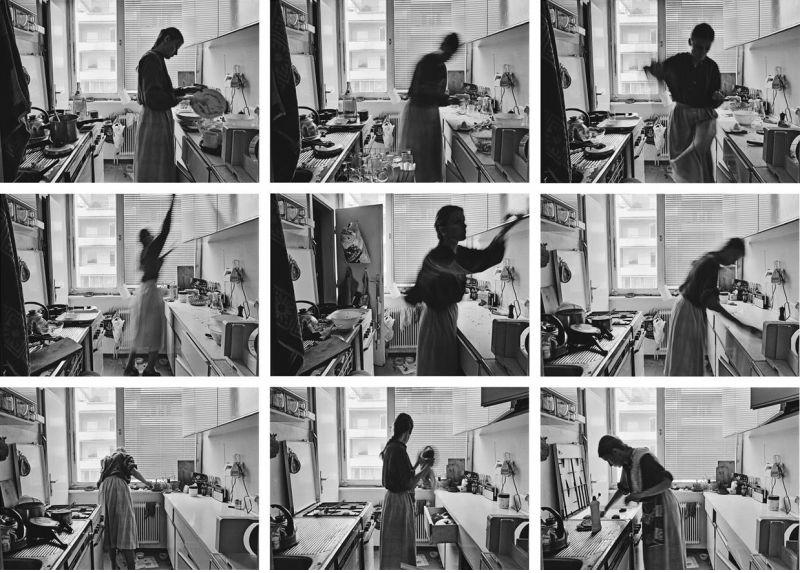 MARGHERITA SPILUTTINI DETAIL Mittwoch, 3. September 1980, 12 Uhr 45 bis 13 Uhr 57., 1980 series of 25 silver-gelatine prints on baryta each 9 x 13,5 cm, total 60 x 80 cm