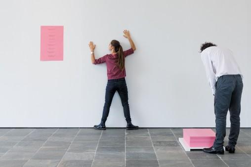 Bruce Nauman, Body Pressure, 1974 Courtesy Konrad Fischer Galerie; Photo: Johannes Stoll, © Belvedere, Vienna, 2017