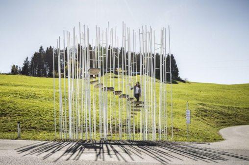 Bränden bus stop,Sou Fujimoto © Albrecht Imanuel Schnabel Vorarlberg Tourismus