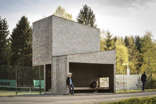 Kressbad bus stop,RintalaEggertsson Architects © Albrecht Imanuel Schnabel Vorarlberg Tourismus