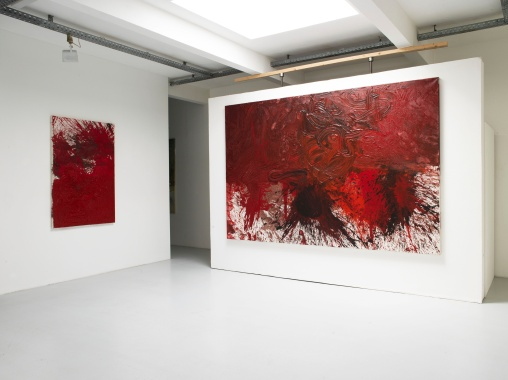 Hermann Nitsch, Installation Views, 2019, Photo: Galerie Elisabeth & Klaus Thoman