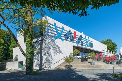 Museum der Moderne Salzburg, Mönchsberg, Front, Photo: Marc Haader